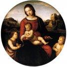 Terranuova Madonna religious Christian canvas art print by Raphael