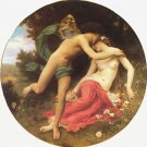 Flore et Zephyre, Flora and Zephyr woman canvas art print by William Adolphe Bouguereau
