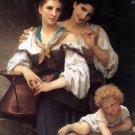 Le secret 1876 The Secret women canvas art print by William Adolphe Bouguereau