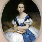 Portrait de Mlle Brissac 1863 Miss Brissac girl canvas art print by William A. Bouguereau