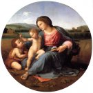 Alba Madonna religious Christian Jesus canvas art print by Raphael