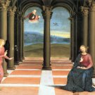Annunciation religious Christian Jesus canvas art print by Raphael