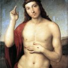 Christ Blessing 1506 religious Jesus bible canvas art print by Raphael