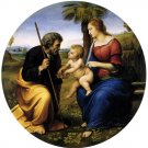 Holy Family with Palm religious Christian canvas art print by Raphael