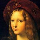 Joanna of Aragon woman portrait canvas art print by Raphael