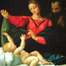 Madonna of the Veil religious Christian canvas art print by Raphael