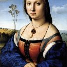 Portrait of Maddalena Strozzi Doni 1506 woman canvas art print by Raphael