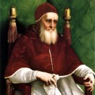 Portrait of Pope Julius II Christian canvas art print by Raphael
