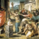 Sacrifice at Lystria religious Christian canvas art print by Raphael