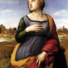 Saint Catherine Alexandria Christian Jesus canvas art print by Raphael