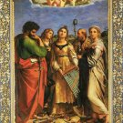Saint Cecilia religious Christian Jesus canvas art print by Raphael