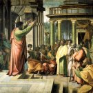 Saint Paul Preaching in Athens Christian canvas art print by Raphael