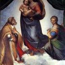 Sistine Madonna religious Christian Jesus canvas art print by Raphael