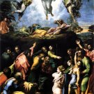 Transfiguration religious Christian Jesus canvas art print by Raphael