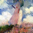 Woman with Parasol Studie 1886 landscape canvas art print by Claude Monet