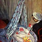 Jean Monet in the Cradle baby canvas art print by Claude Monet