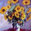 Still Life with Sunflowers 1881 canvas art print by Claude Monet