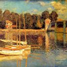 The Bridge of Argenteuil river water landscape canvas art print by Claude Monet