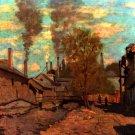 The Brook of Robec creek canvas art print by Claude Monet