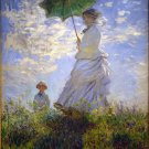 Woman with a Parasol 1875 umbrella canvas art print by Claude Monet
