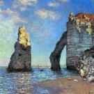 The Cliffs at Etretat 1885 seascape canvas art print by Claude Monet