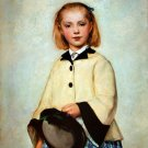 Louise Anker 1874 The artist's daughter portrait canvas art print by Albert S. Anker