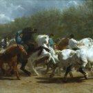 The Horse Fair 1855 horses canvas art print by Rosa Bonheur