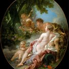 Angelica and Medoro 1763 woman canvas art print by Francois François Boucher
