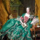 Madame de Pompadour woman portrait canvas art print by François Boucher