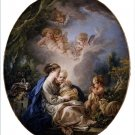 Virgin Child Saint John Baptist Christian canvas art print by Boucher
