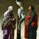 The Crucifixion, the Virgin, Saint John canvas art print by Brugghen