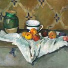 Still Life with Jar Cup and Apples ca 1877 canvas art print by  Paul Cezanne