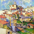 Gardanne 1886 cityscape canvas art print by Paul Cezanne