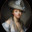 The White Hat woman portrait canvas art print by Jean Baptiste Greuze