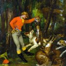 After the Hunt ca 1859 dogs canvas art print by Gustave Courbet