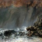 Marine The Waterspout 1870 seascape canvas art print by Gustave Courbet