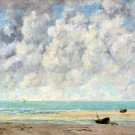 The Calm Sea 1869 seascape canvas art print by Gustave Courbet