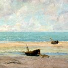 The Calm Sea 1869 Detail seascape canvas art print by Gustave Courbet