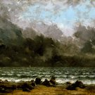 The Sea 1873 seascape canvas art print by Gustave Courbet
