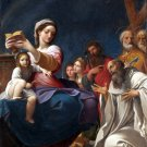 Madonna and Child with Saints canvas art print by Ludovico Carracci