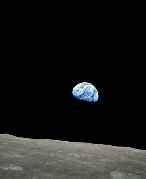 Earthrise from Apollo 8 Moon Mission 24 December 1968 photo photograph art print