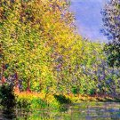 A Bend of the Epte Giverny landscape canvas art print by Claude Monet