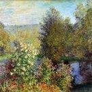 Corner of the Garden at Montgeron 1876 flower landscape canvas art print by Claude Monet