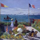 Garden at Sainte Adresse 1867 seascape canvas art print by Claude Monet