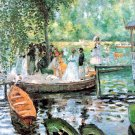 La Grenouillere I seascape canvas art print by Claude Monet