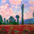Landscape of Vernon canvas art print by Claude Monet