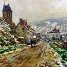 Local Entrance of Vetheuil in the Winter cityscape canvas art print by Claude Monet