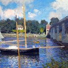 Argenteuil Bridge Pont d'Argenteuil water landscape canvas art print by Claude Monet