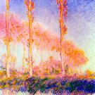 Poplars I water landscape canvas art print by Claude Monet
