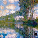 Poplars at the Epte water landscape canvas art print by Claude Monet